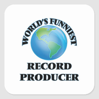 World's Funniest Record Producer Square Sticker