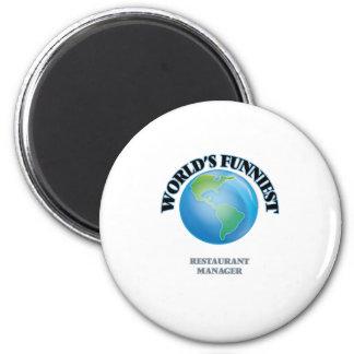 World's Funniest Restaurant Manager Fridge Magnets