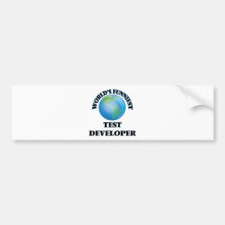 World's Funniest Test Developer Bumper Stickers