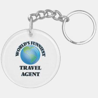World's Funniest Travel Agent Key Chain