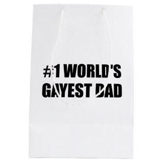 Worlds Gayest Dad Medium Gift Bag