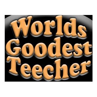 Worlds Goodest Teecher Funny Teacher Gift Postcard
