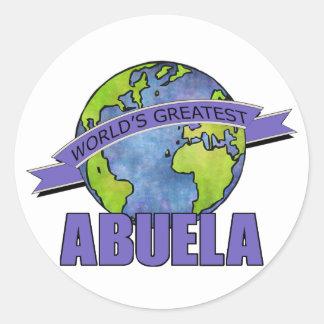 World's Greatest Abuela Round Sticker