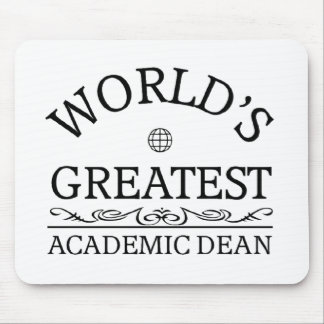 World's greatest Academic Dean Mousepad
