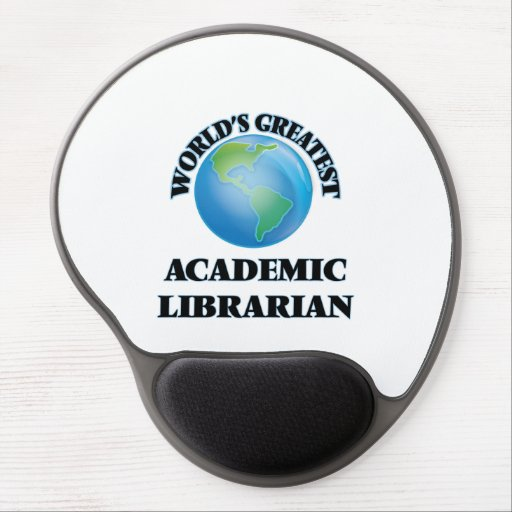 World's Greatest Academic Librarian Gel Mousepad