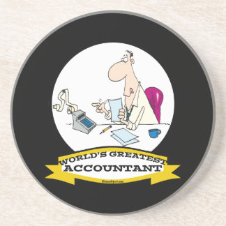 WORLDS GREATEST ACCOUNTANT MEN CARTOON COASTER