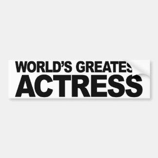 World's Greatest Actress Bumper Sticker