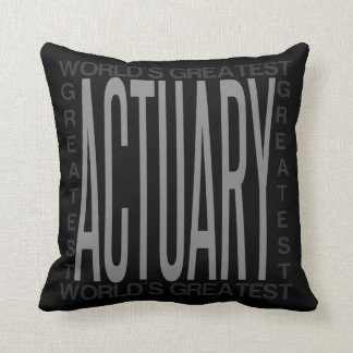 Worlds Greatest Actuary Cushion