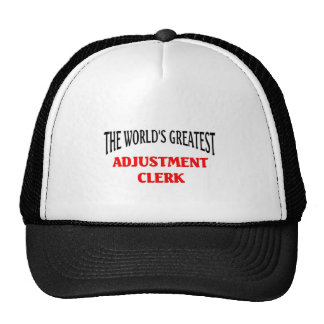 World's Greatest Adjustment Clerk Cap