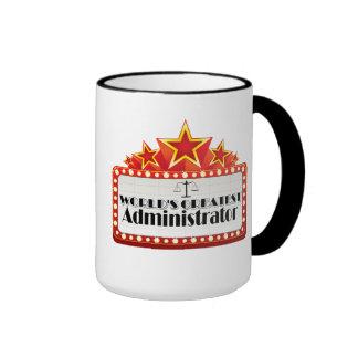 World's Greatest Administrator Ringer Mug