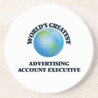World's Greatest Advertising Account Executive Coasters
