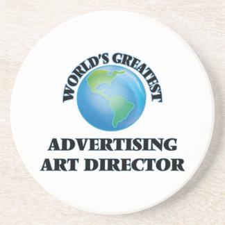 World's Greatest Advertising Art Director Drink Coaster