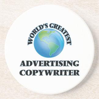 World's Greatest Advertising Copywriter Drink Coaster