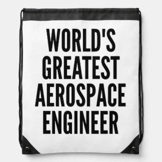 Worlds Greatest Aerospace Engineer Drawstring Backpacks
