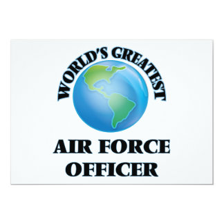 World's Greatest Air Force Officer Personalized Invitation