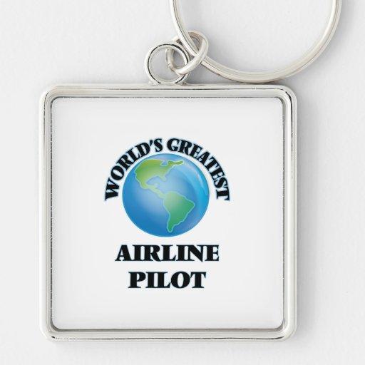 World's Greatest Airline Pilot Keychain