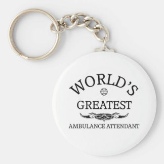 World's greatest Ambulance Attendant Basic Round Button Key Ring