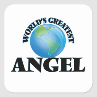 World's Greatest Angel Square Stickers