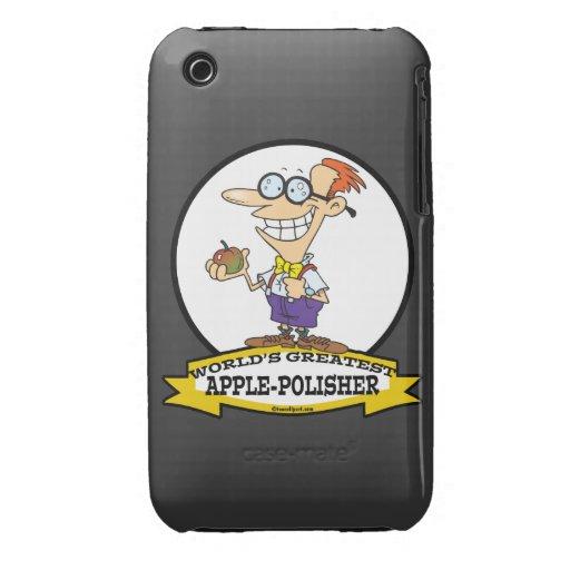 WORLDS GREATEST APPLE POLISHER CARTOON iPhone 3 COVERS