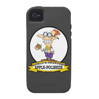 WORLDS GREATEST APPLE POLISHER CARTOON Case-Mate iPhone 4 CASES