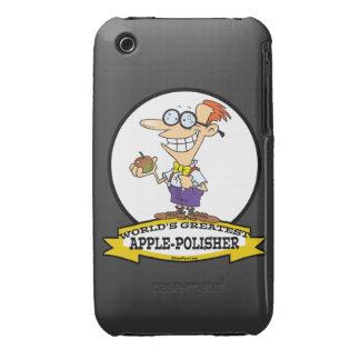WORLDS GREATEST APPLE POLISHER CARTOON iPhone 3 CASE