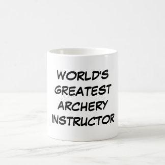 """""""World's Greatest Archery Instructor""""Mug Basic White Mug"""