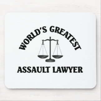 World's greatest assault lawyer mouse pad