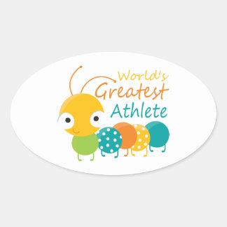 World's Greatest Athlete Oval Sticker