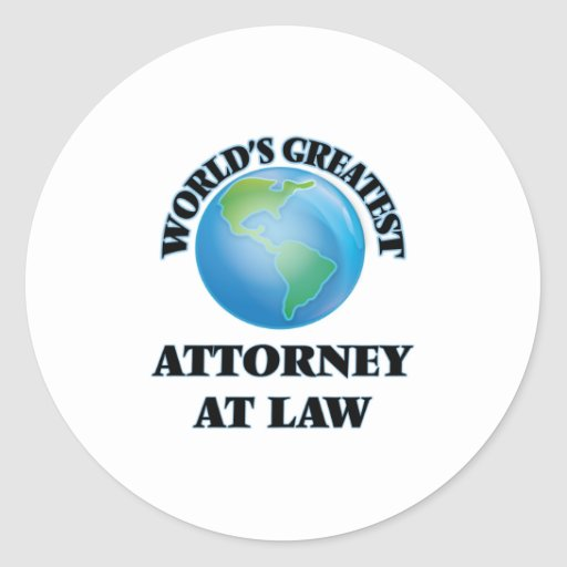 World's Greatest Attorney At Law Sticker