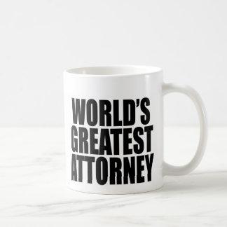 World's Greatest Attorney Basic White Mug