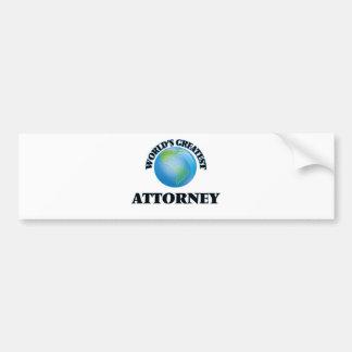 World's Greatest Attorney Bumper Sticker