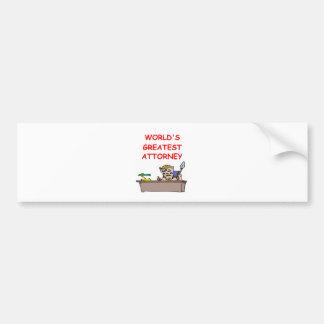 world's greatest attorney bumper stickers