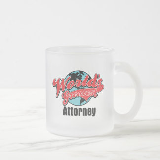 Worlds Greatest Attorney Frosted Glass Mug