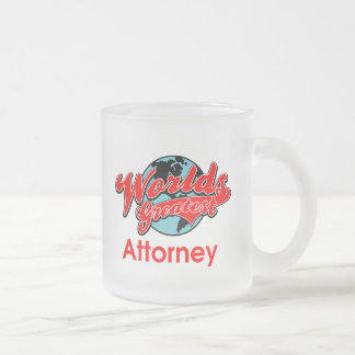 World's Greatest Attorney Frosted Glass Mug