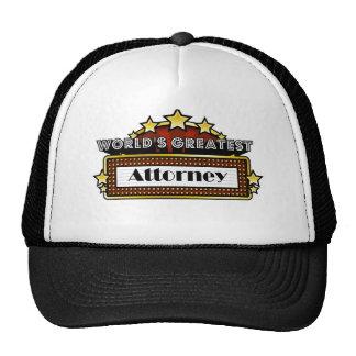 World's Greatest Attorney Trucker Hat