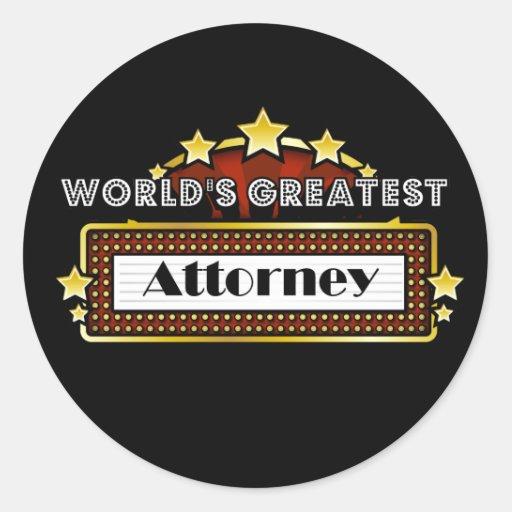 World's Greatest Attorney Sticker