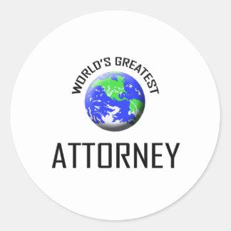 World's Greatest Attorney Stickers