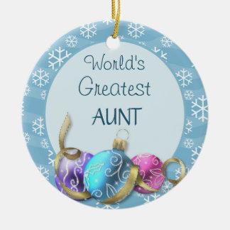 World's Greatest Aunt Christmas Ornament