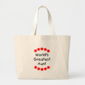 World's Greatest Aunt (red) Jumbo Tote Bag