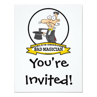 WORLDS GREATEST BAD MAGICIAN CARTOON CARD