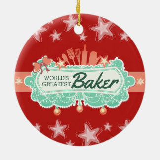 Worlds greatest baker culinary Christmas ornament