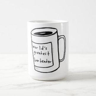 world's greatest bartender coffee mug