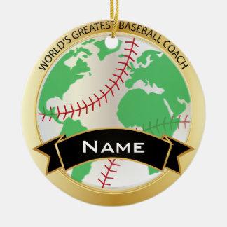 World's Greatest Baseball Coach | DIY Text Ceramic Ornament
