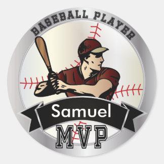 World's Greatest Baseball Player Round Sticker