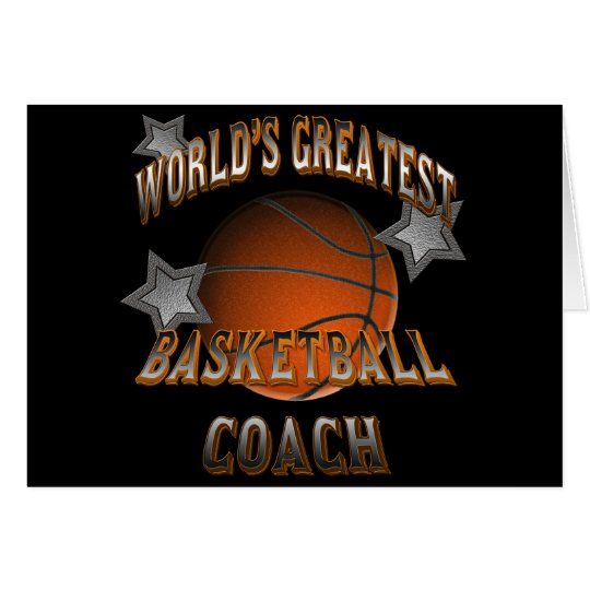 World's Greatest Basketball Coach Card