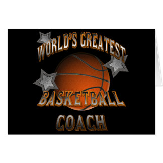 World's Greatest Basketball Coach Greeting Card