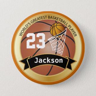 World's Greatest Basketball Player 7.5 Cm Round Badge
