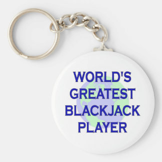 World's Greatest Blackjack Player Key Ring