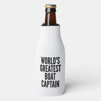 Worlds Greatest Boat Captain Bottle Cooler