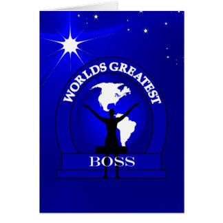 Worlds Greatest Boss Award Greeting Greeting Card